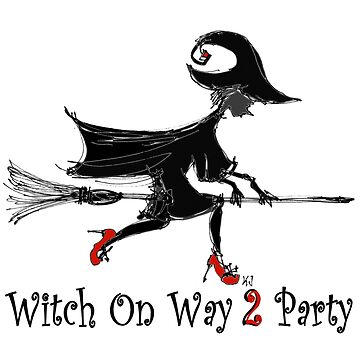 Witch on Way 2 Party by kjadesign