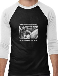Danny Trejo x Marsellus Wallace - Never heard of her! Men's Baseball ¾ T-Shirt