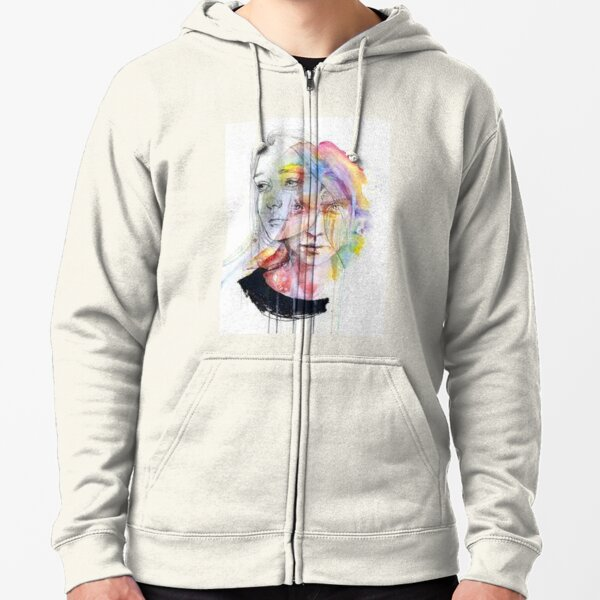 two faces of one woman Zipped Hoodie