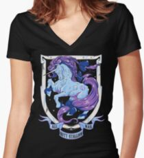 Diamond Monarch Women's Fitted V-Neck T-Shirt