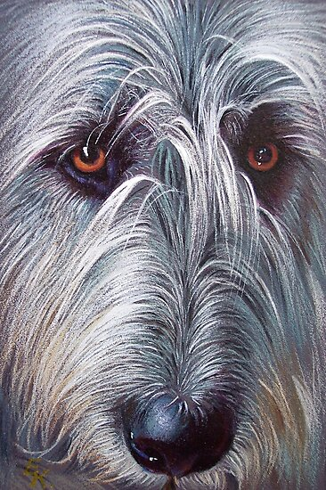 Irish Wolfhound by Elena Kolotusha