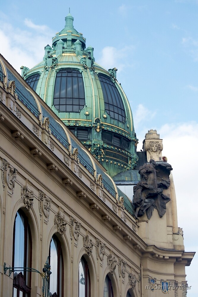 Ornate dome in Prague by moderntraveller