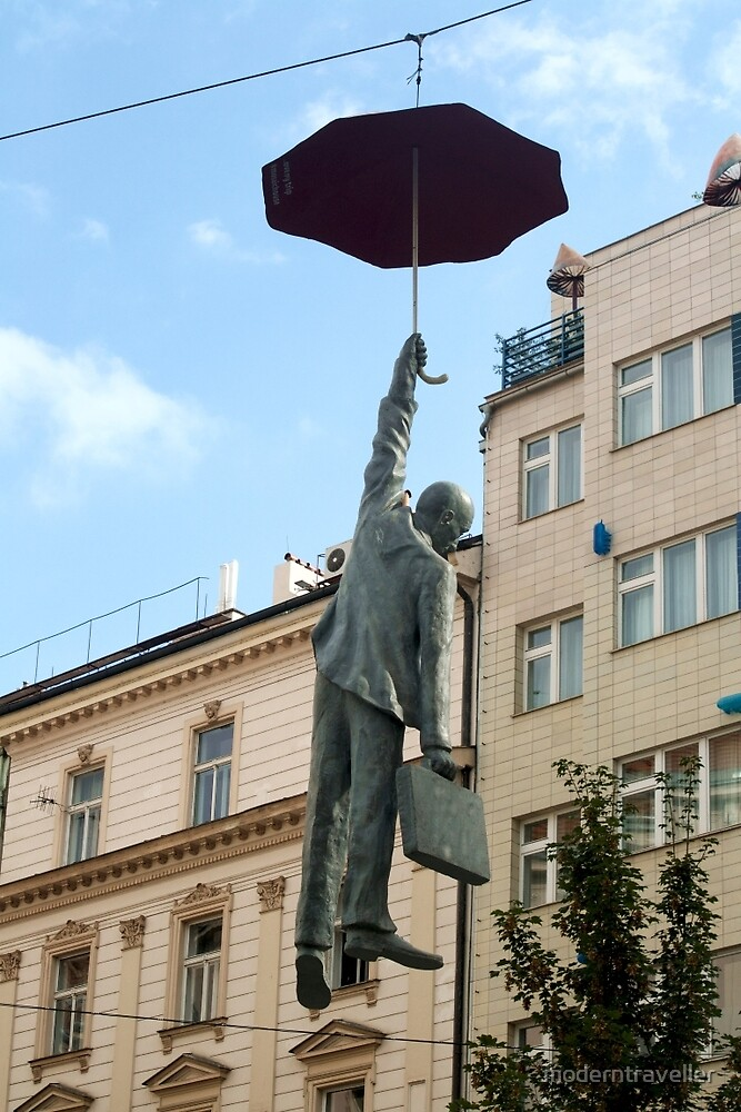Hanging by a handle, Prague by moderntraveller
