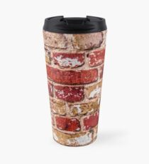 Wall Of Old Red Brick Travel Mug