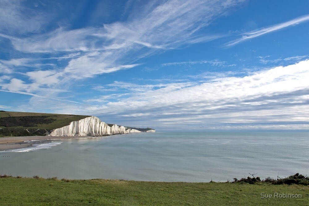 Seven Sisters from Seaford Head by Sue Robinson