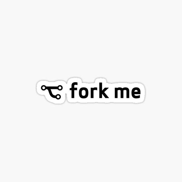 Git fork me Sticker