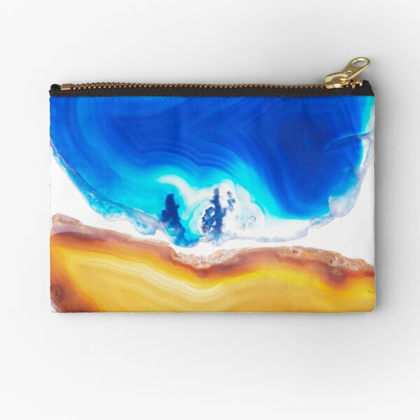 Gemstones in blue and yellow Zipper Pouch