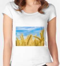 Wheat Field Women's Fitted Scoop T-Shirt