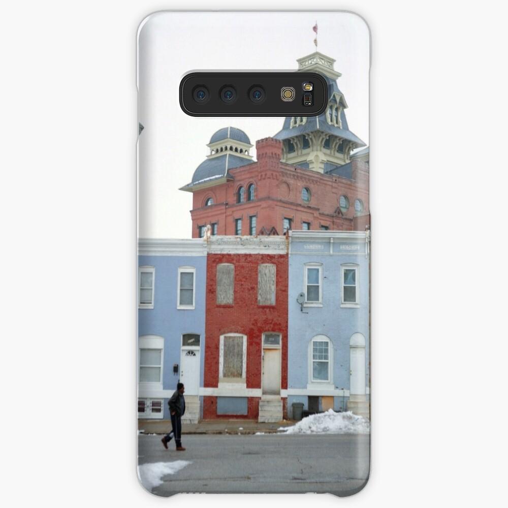 Rowhomes in Baltimore Funda y vinilo para Samsung Galaxy
