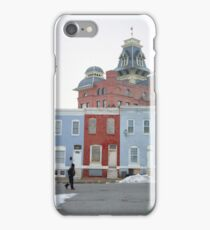 Rowhomes in Baltimore iPhone Case/Skin