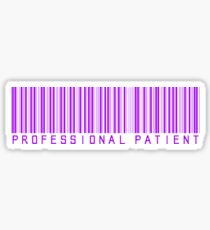 Professional Patient - Purple Sticker