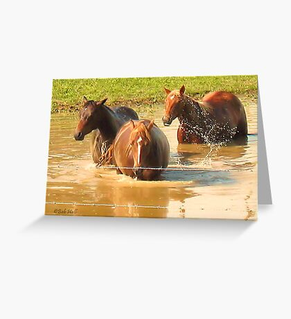 """""""Horses with Attitude no. 5, 'Hey, Youse Guys, I'm Still Talkin'""""... prints and products        Greeting Card"""