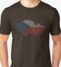 Love Czech Republic Flag Graphic Design With Cities Flag Colors Unisex T-Shirt