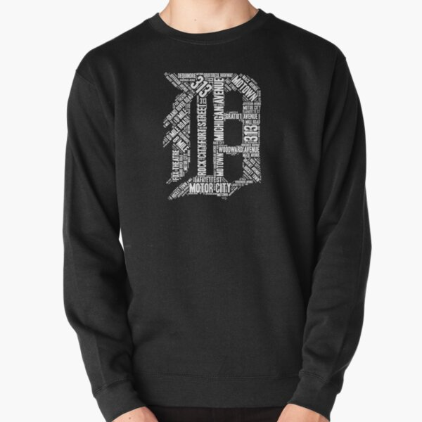 """Love Detroit """"D"""" with Street Names D Outline Shirt Graphic Pullover Sweatshirt"""
