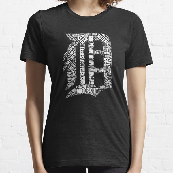"Love Detroit ""D"" with Street Names D Outline Shirt Graphic Essential T-Shirt"
