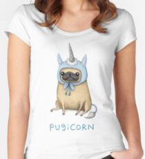 Pugicorn - Fawn Women's Fitted Scoop T-Shirt