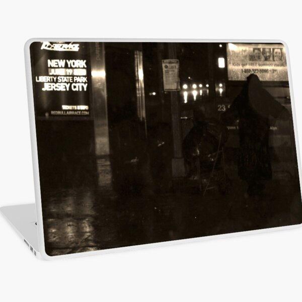 Bag Lady Seeking Shelter... V2 Laptop Skin