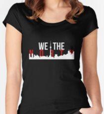 Raptors We The North Toronto Skyline Women's Fitted Scoop T-Shirt