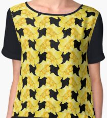 Yellow Spring Daffodil Graphic Women's Chiffon Top