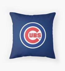 Chicago Cubs logo Throw Pillow