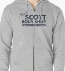 Keith Scott Body Shop Weathered Hoodie – One Tree Hill, Lucas Scott Zipped Hoodie