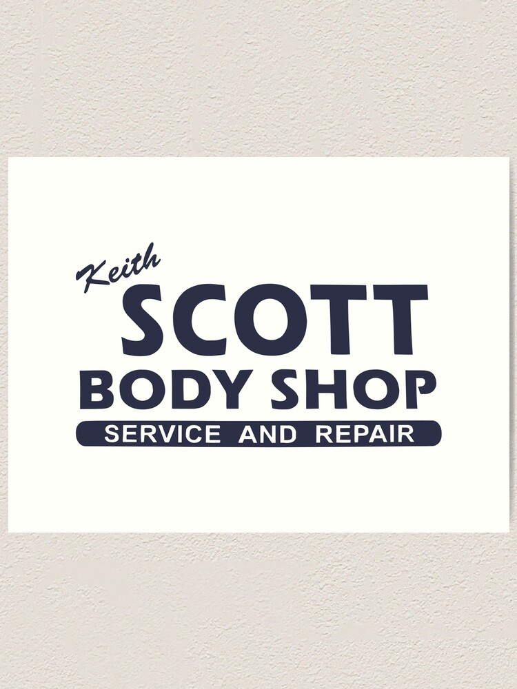 Keith Scott Body Shop Hoodie One Tree Hill Lucas Scott Art Print By Fandemonium Redbubble