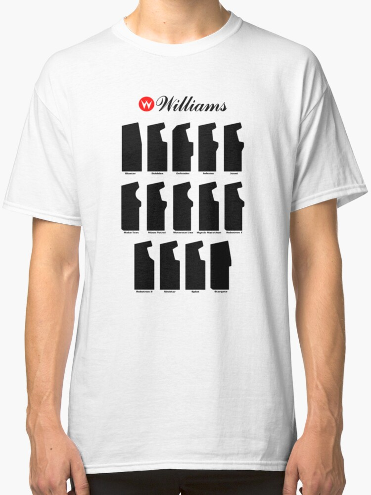'Williams Arcade Cabinets' Classic T-Shirt by FrozenLip