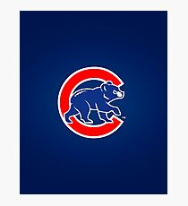 Chicago Cubs logo 2 Photographic Print