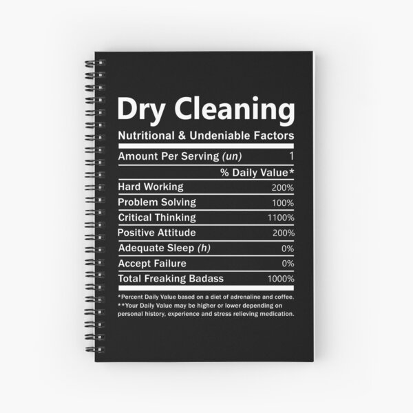 Dry Cleaning T Shirt - Nutritional And Undeniable Factors Gift Item Tee Spiral Notebook