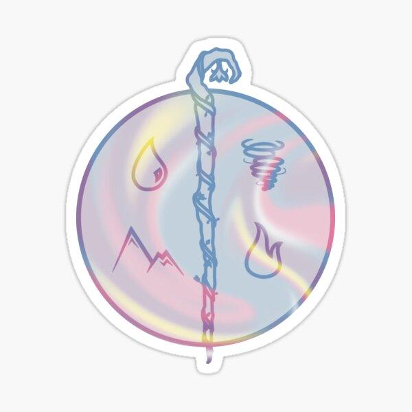 Bigender Druid Symbol Sticker