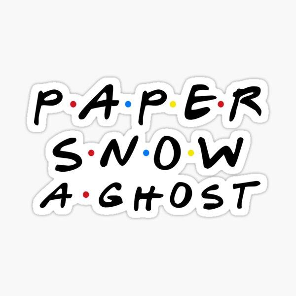 PAPER SNOW A GHOST Sticker