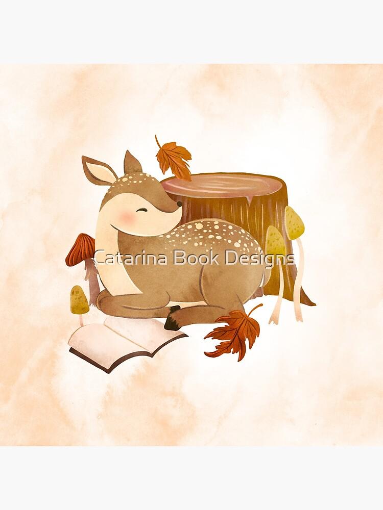 BOOKISH FAWN by catarinadesigns