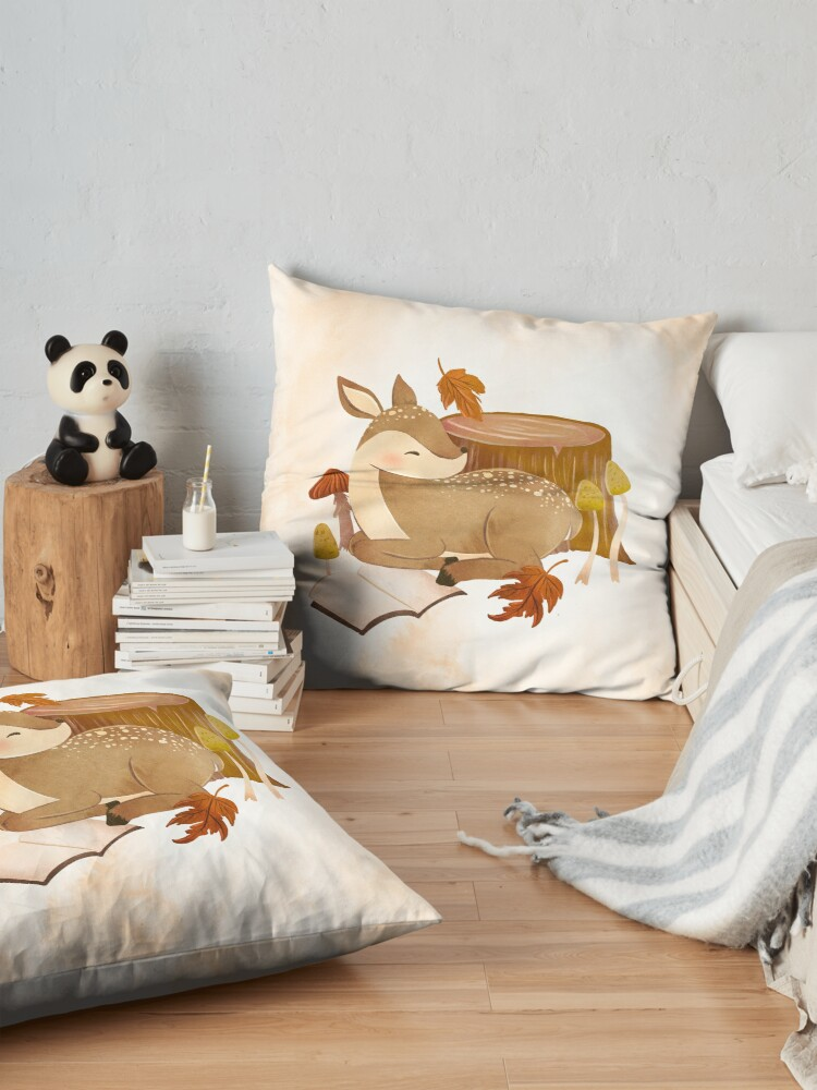 Alternate view of BOOKISH FAWN Floor Pillow