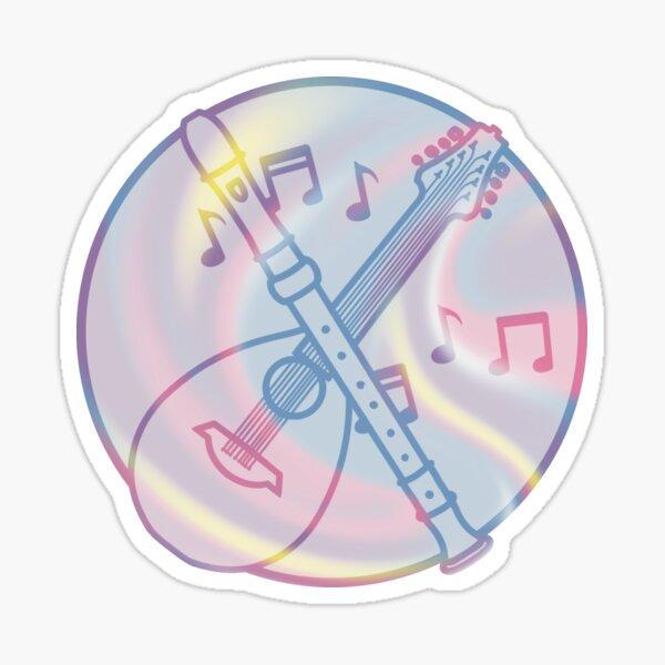 Bigender Bard Symbol Sticker