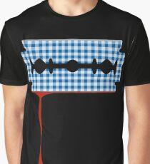 Gingham Razor Blade Graphic T-Shirt