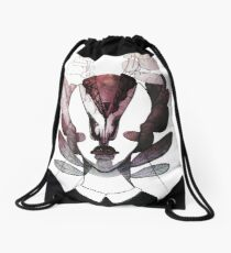 nagging thoughts Drawstring Bag