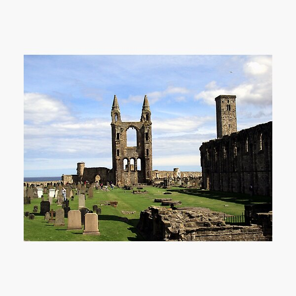 St Andrews' Cathedral - another angle Photographic Print