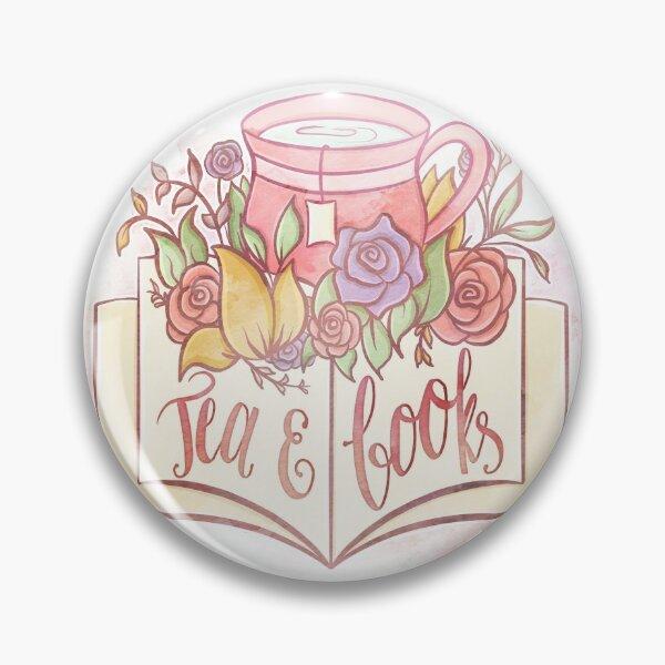 TEA & BOOKS Pin