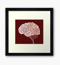 Brain Map Framed Print
