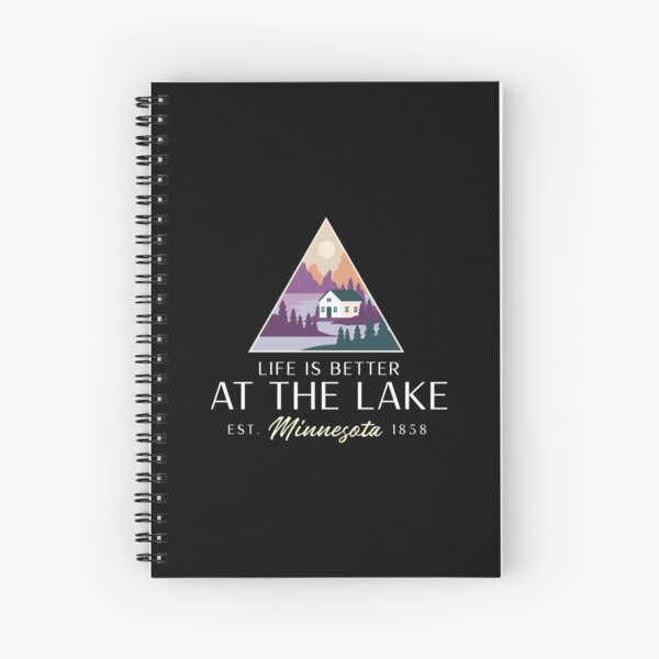 Life is better at the lake Spiral Notebook