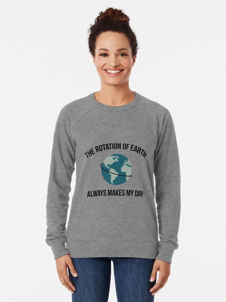 Alternative Ansicht von Die Rotation der Erde Leichter Pullover