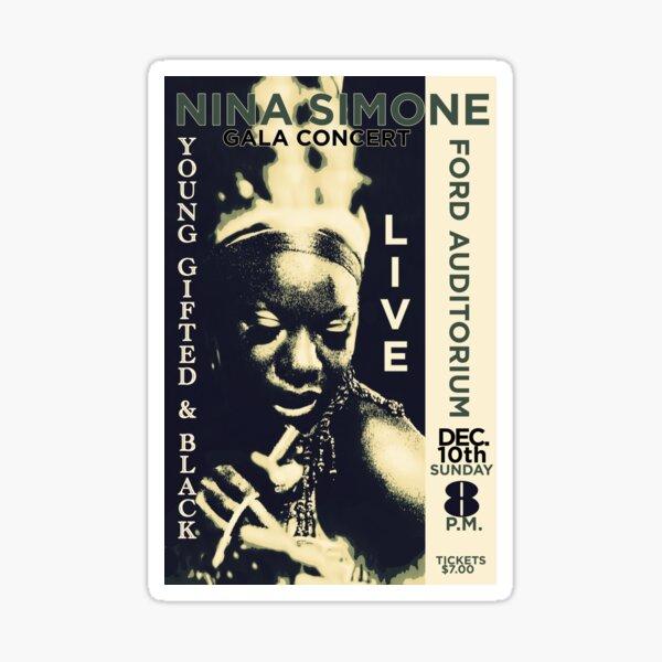 Nina Simone Concert Poster Sticker
