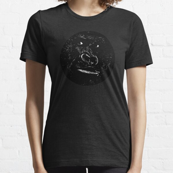 GORILLA in a circle // Ink Tattoo Style Design Essential T-Shirt