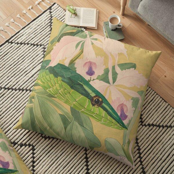 Green Vine Snake Floor Pillow