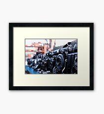 Retro Camera - Agifold square frame Framed Print