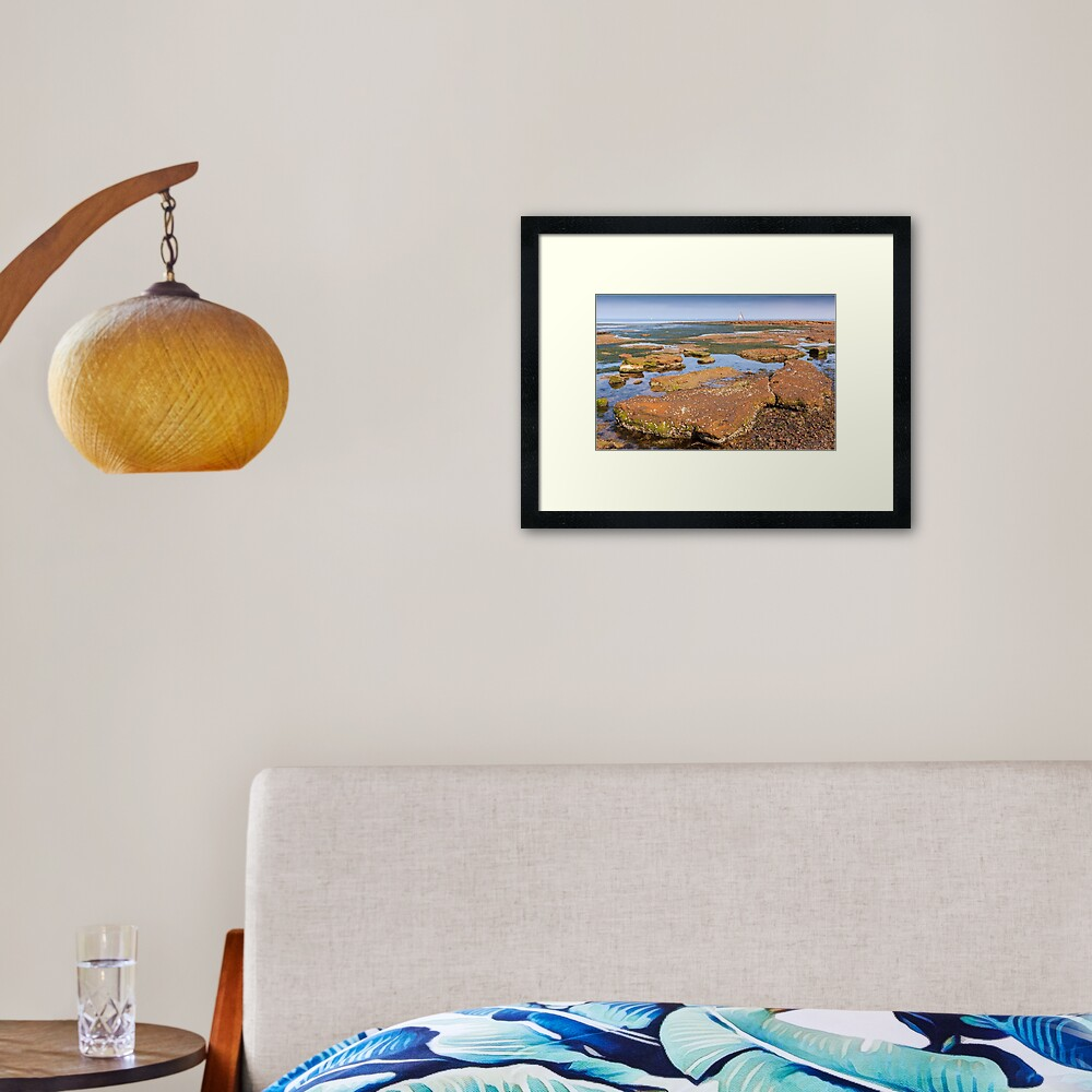 Low Tide - Rickett's Point Framed Art Print