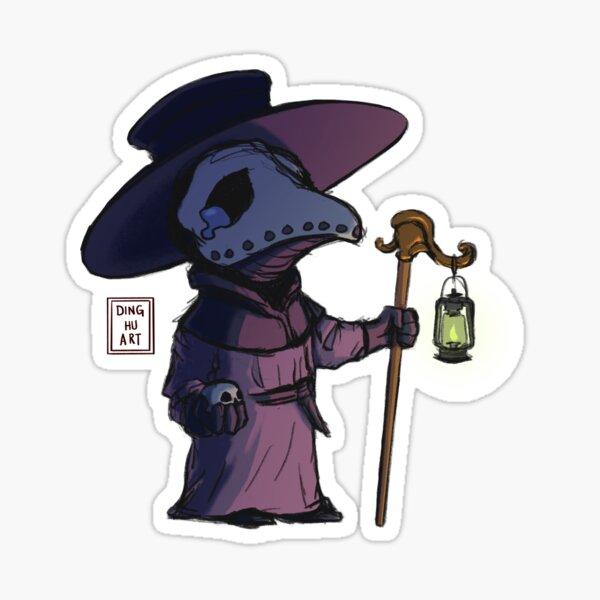 cute sad plague doctor Sticker