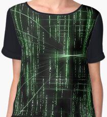 Abstract matrix pattern - digitally generated image Chiffon Top