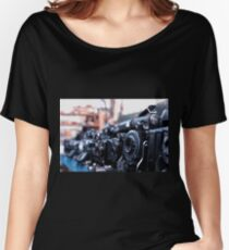 Retro Camera - Agifold square frame Women's Relaxed Fit T-Shirt