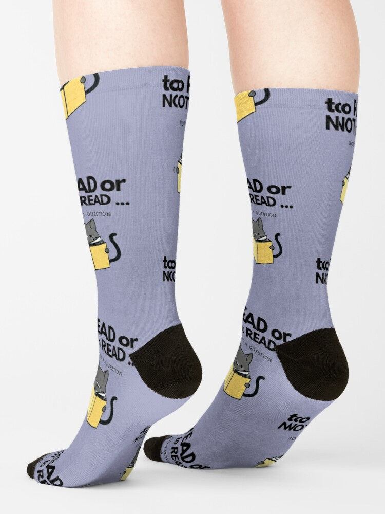 Alternate view of To Read or Not to Read Black Cat Socks